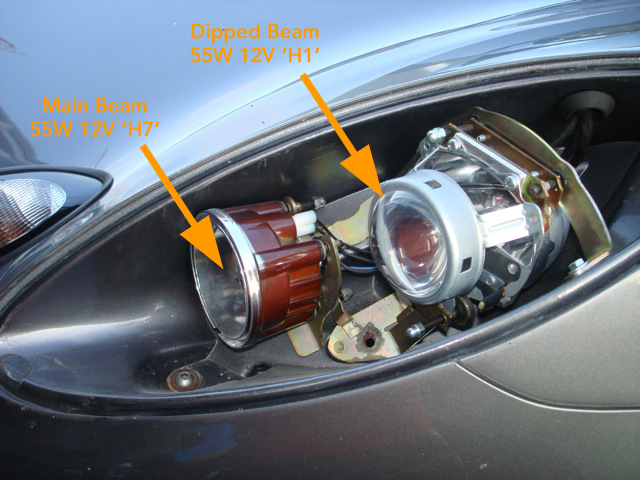 Dipped Beam Headlights : Vendo kit quot hurricane hid headlamp conversion h by